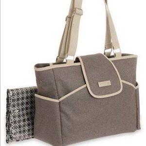 Baby fashion flap tote diaper bag